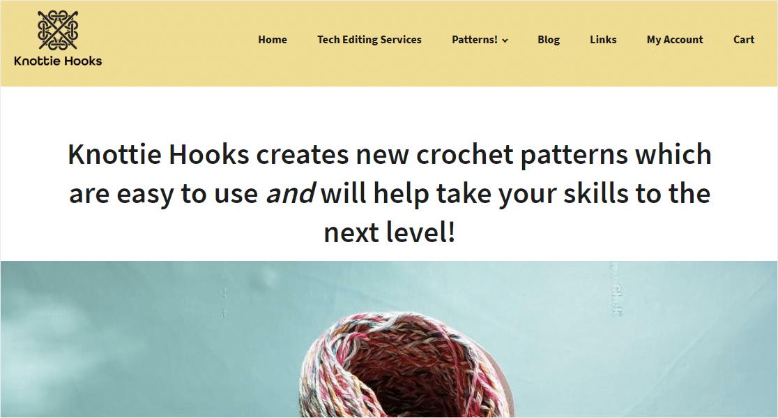 knottie hooks homepage