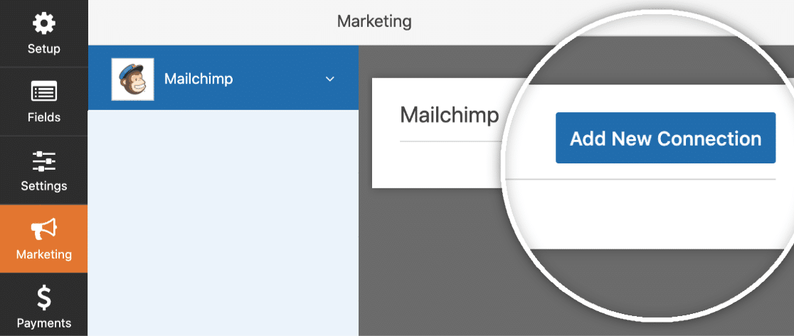 Add new Mailchimp connection