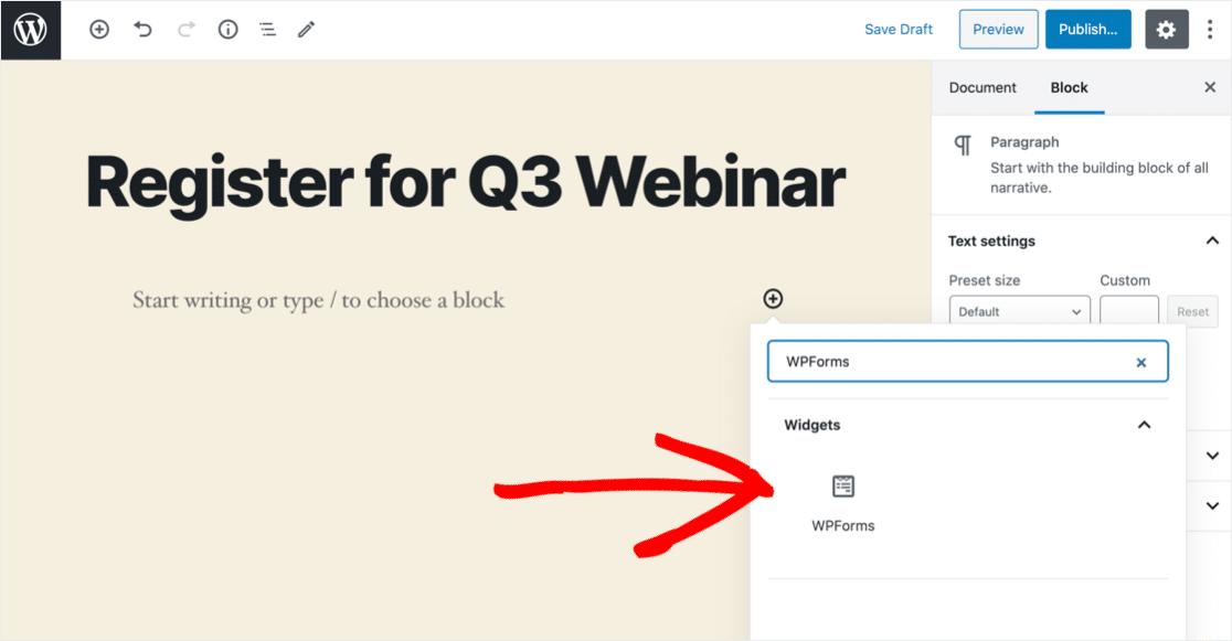 Add Podio form block in WordPress