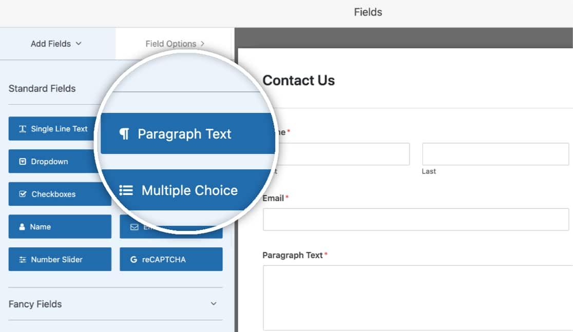 Add a Paragraph Text Field