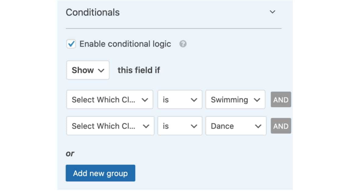 Conditional Logic for Multi-Select Dropdown