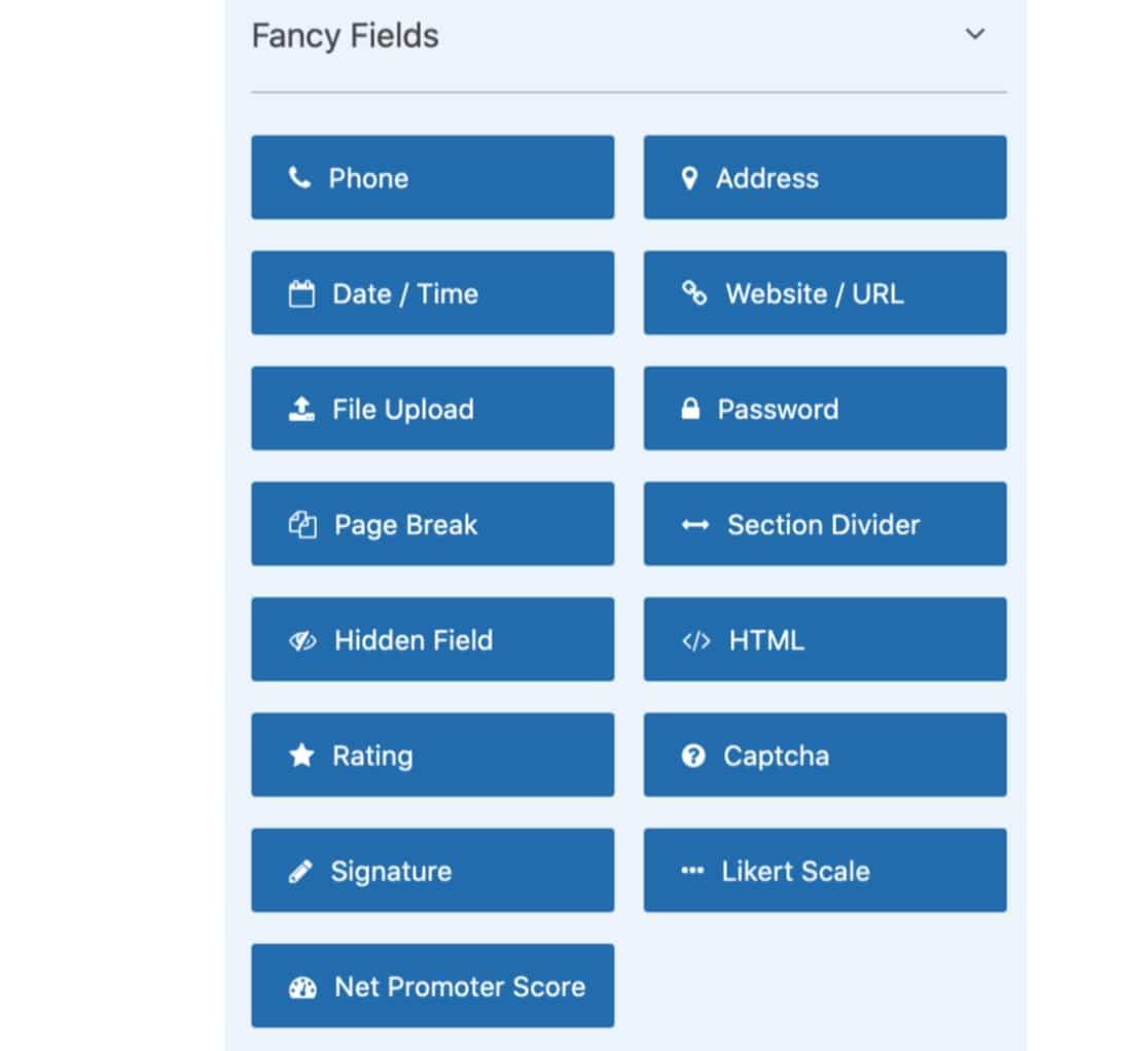 Fancy Fields in WPForms