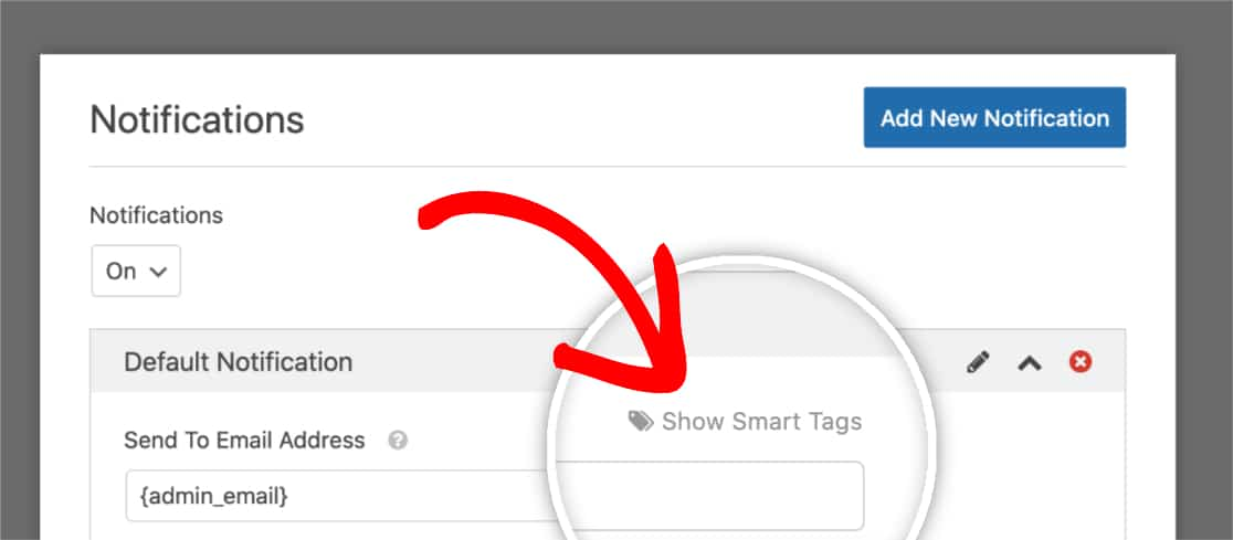 Show Smart Tags in Notification Settings