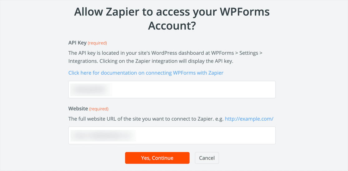 Connect to WPForms in Zapier