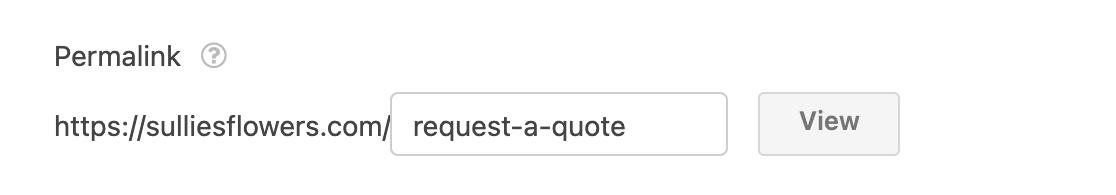 Editing a conversational form's permalink