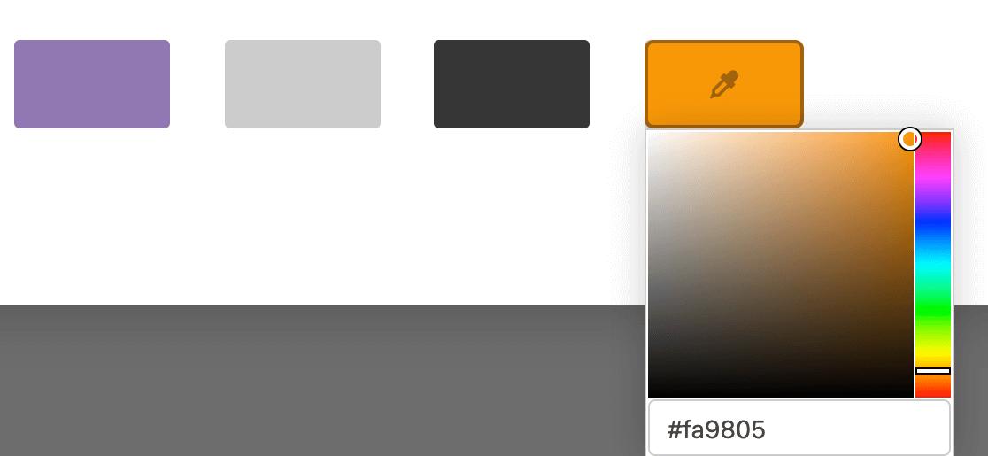 Choosing a custom color scheme for a conversational form