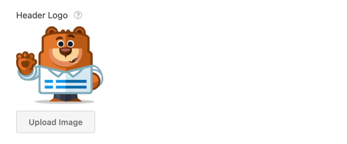 Adding a header logo to a conversational form