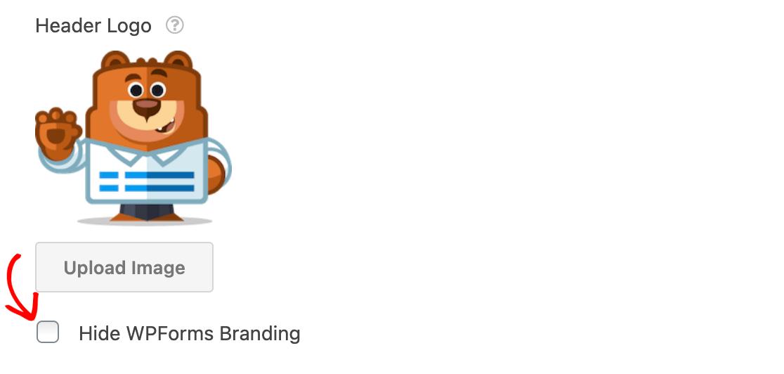 Hiding WPForms branding on a conversational form