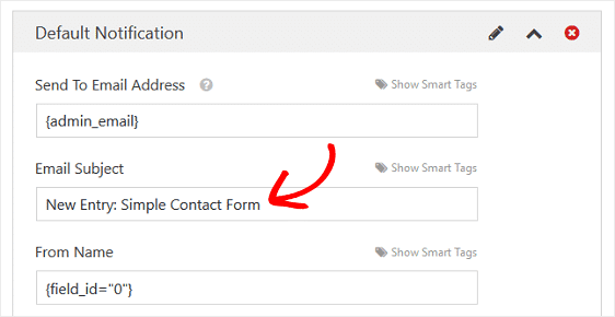 email subject form organization