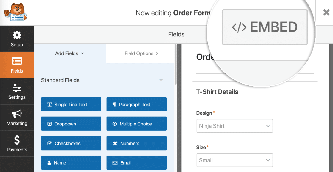 Embed your Authorize.net payment form