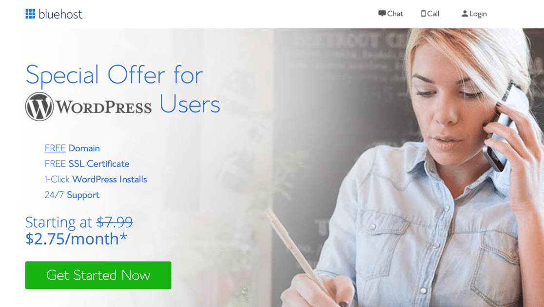 Get started with a free business email address at Bluehost