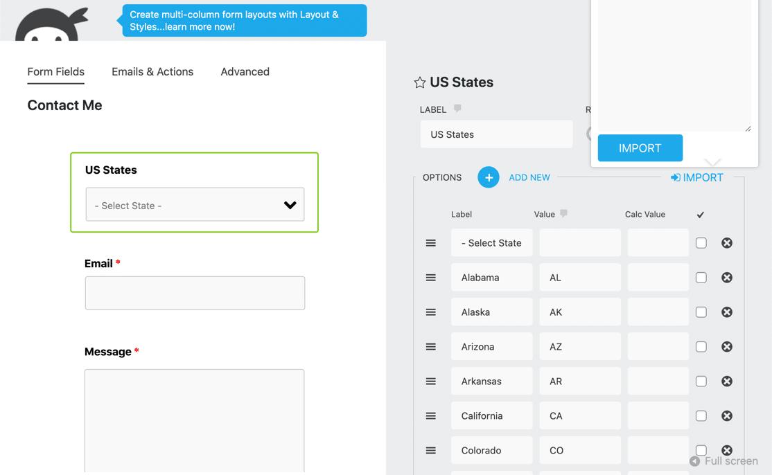 Ninja Forms customize address field