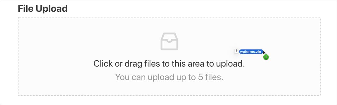 Modern file upload field
