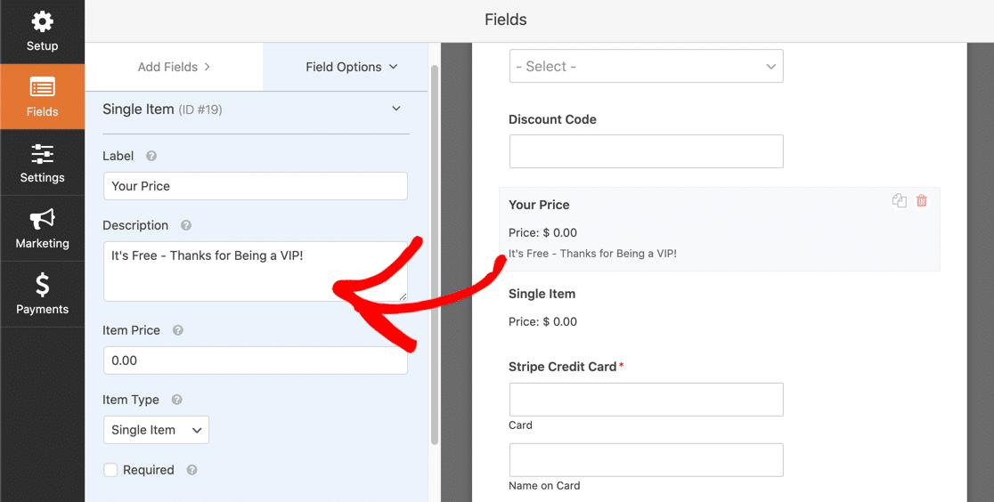 Update single item field