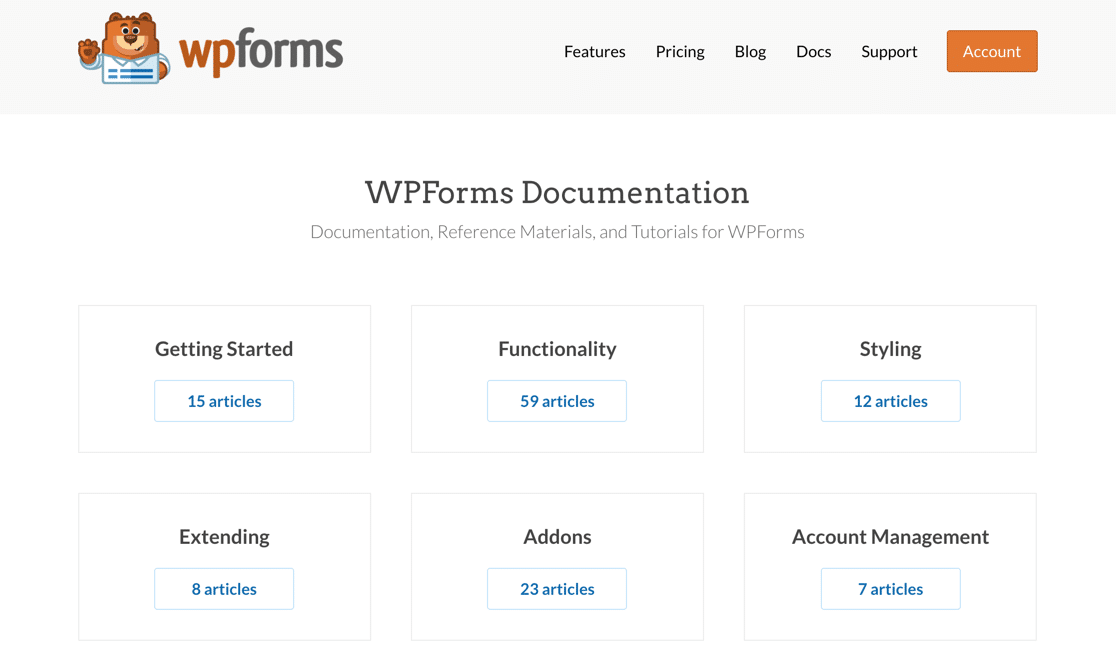 WPForms documentation