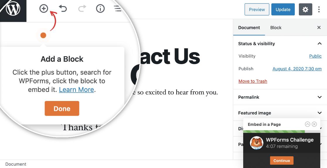 Add a Block to WordPress