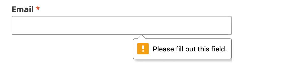 Browser Validation Error