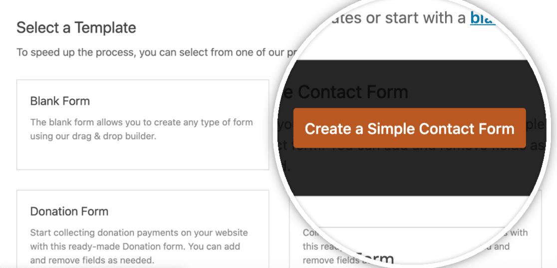 创建一个简单的联系表
