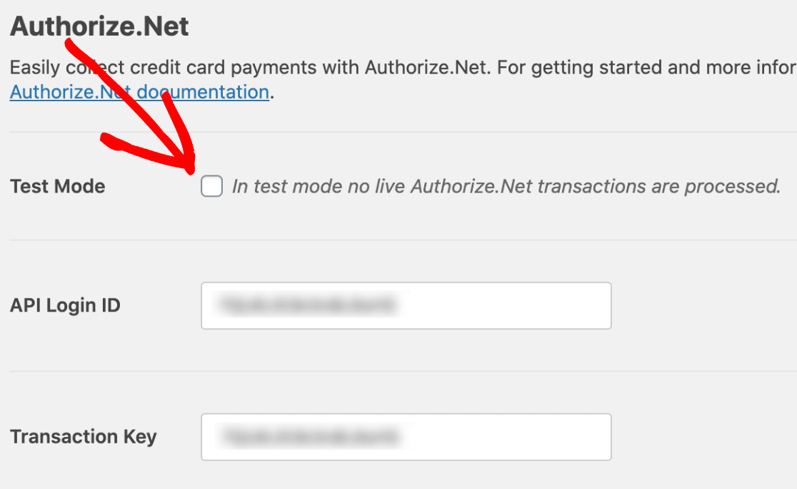 Turn Off Test Mode in Authorize.Net