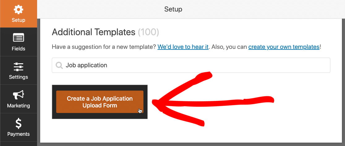 Create job application form that expires