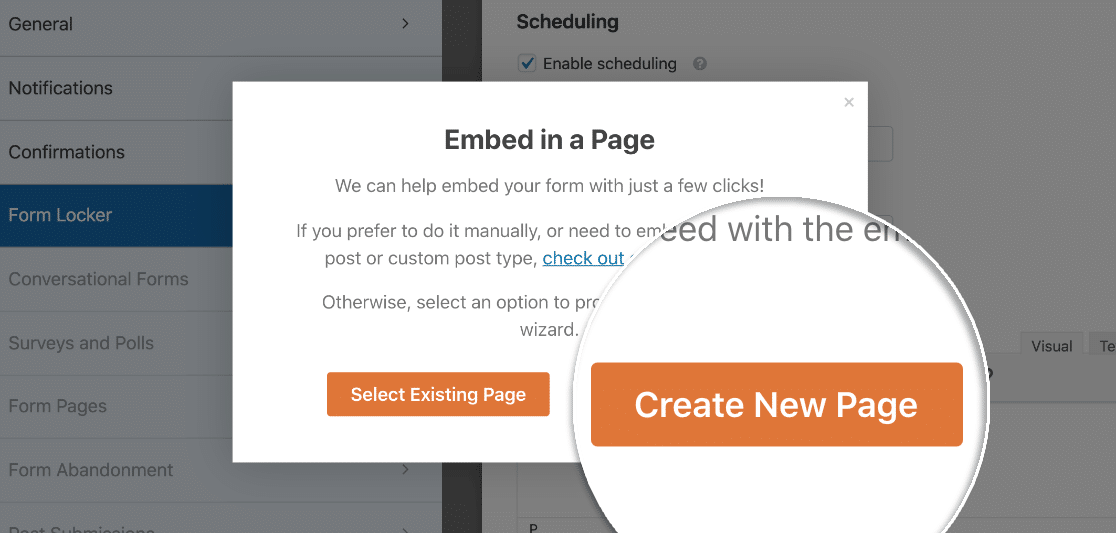 Create new Form Expiry page