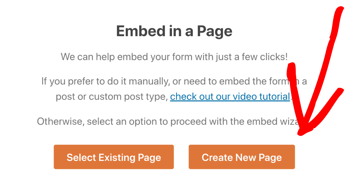 Embed GoToWebinar form in a new page