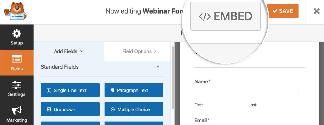 Embed custom GoToWebinar registration form