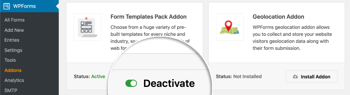 Activate the form templates addon to make a custom webinar form