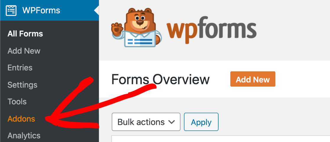 Activate the webinar template in WPForms addons