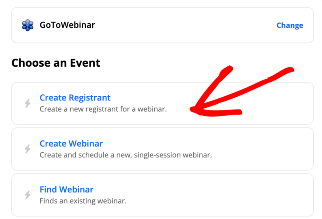 Create registrant from custom GoToWebinar registration form