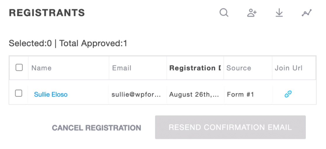 Registrant from GoToWebinar registration form