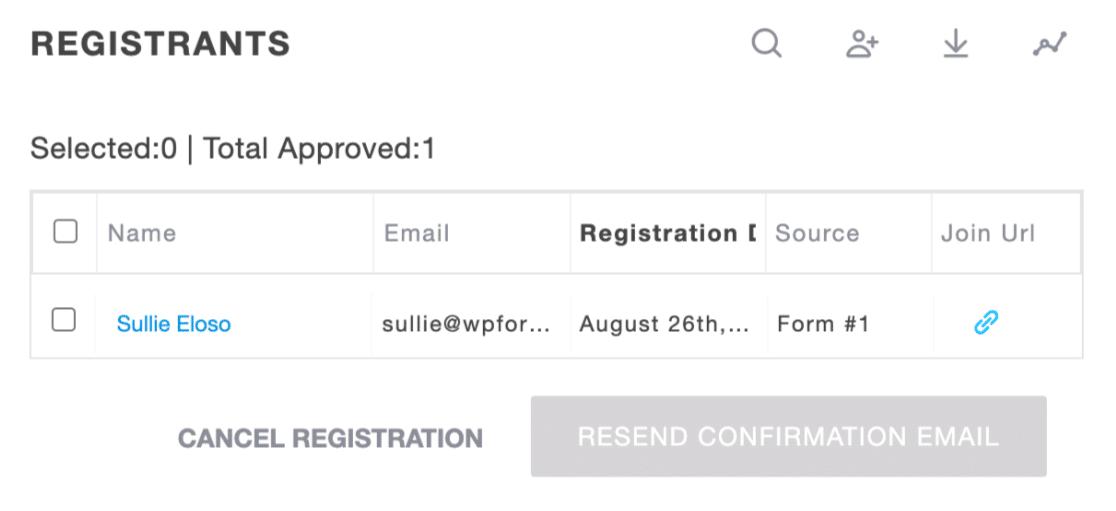 Registrant from GoToWebinar registration form