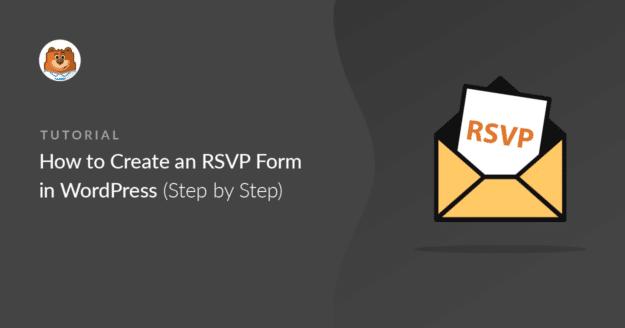 Create RSVP form WordPress