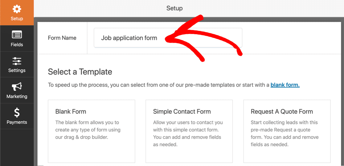 Name your automatic expiry form