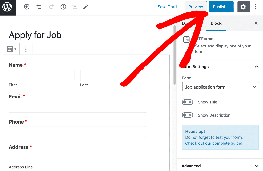 Publish WordPress form with expiry date
