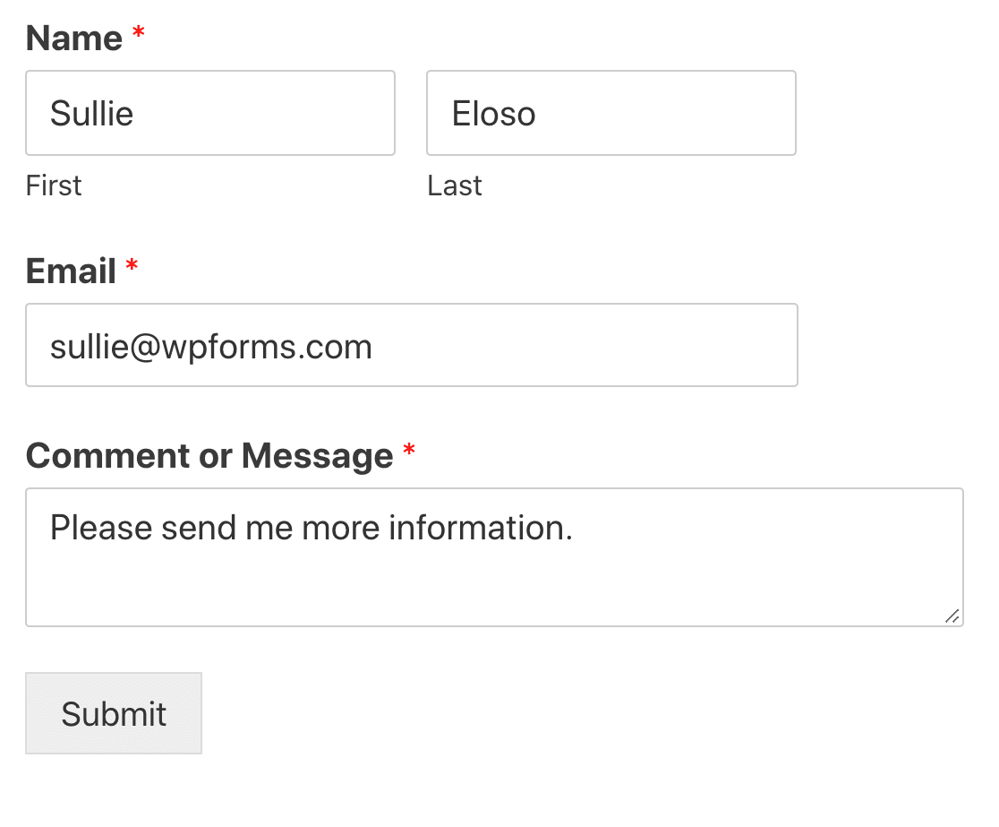 WordPress form entry to PDF