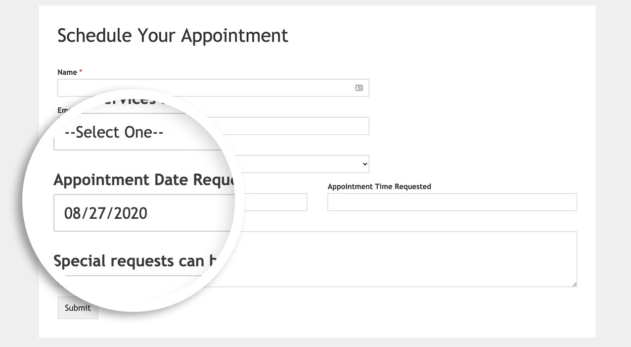 The default date is now set on the date picker field when the form loads.