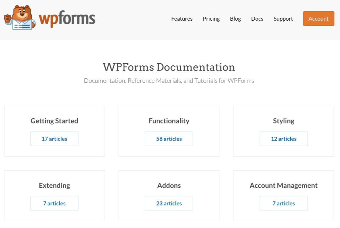 WPForms Docs