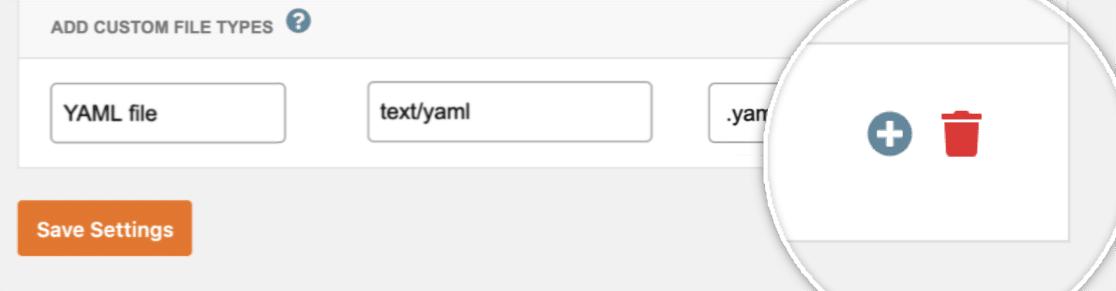 Add or Delete a File Type