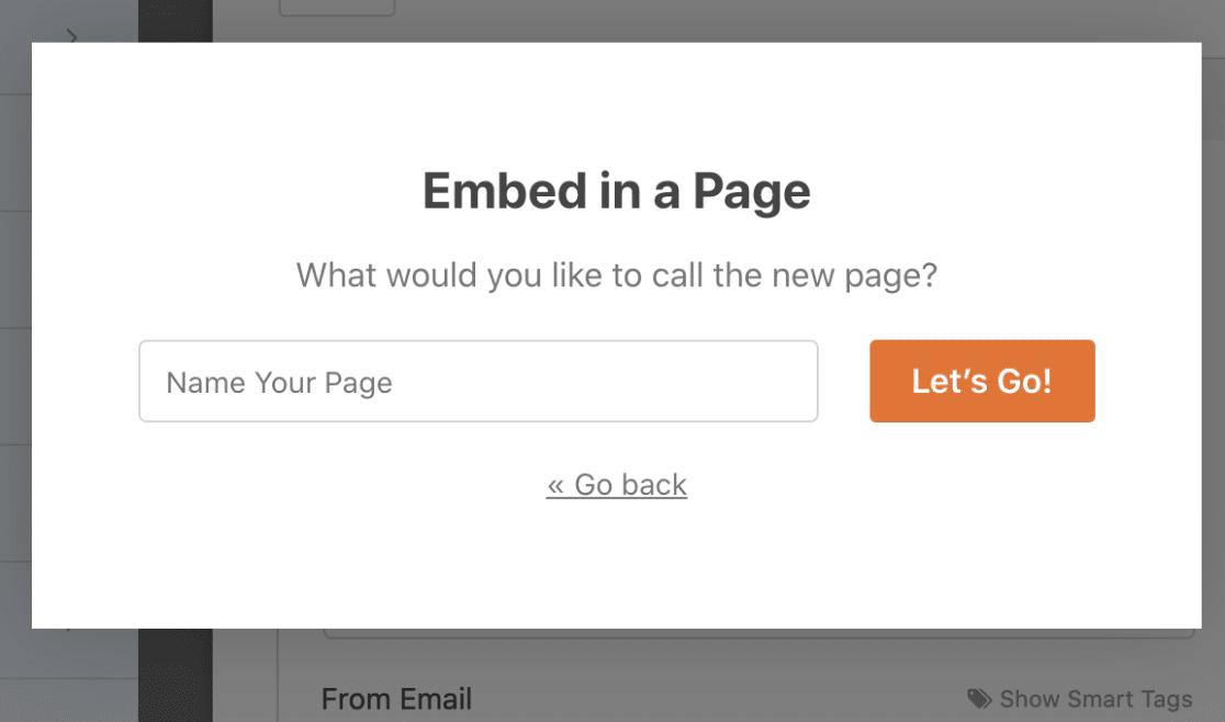 Name Your Page WPForms Challenge