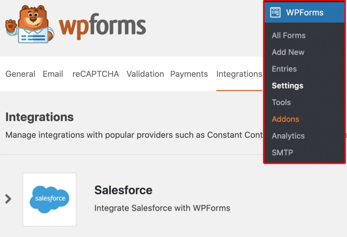 Salesforce Integration in WPForms