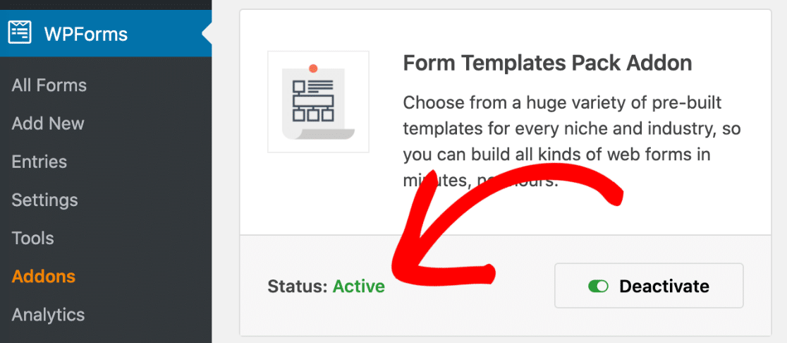 Activate the form templates pack for the refer-a-friend form
