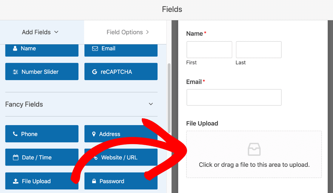 Add File Upload field to payment form