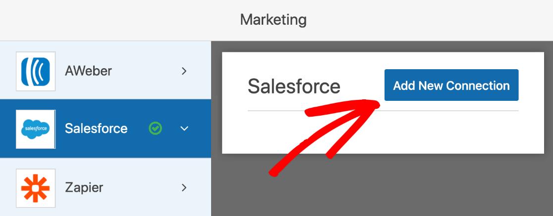 Add new Salesforce integration in WordPress