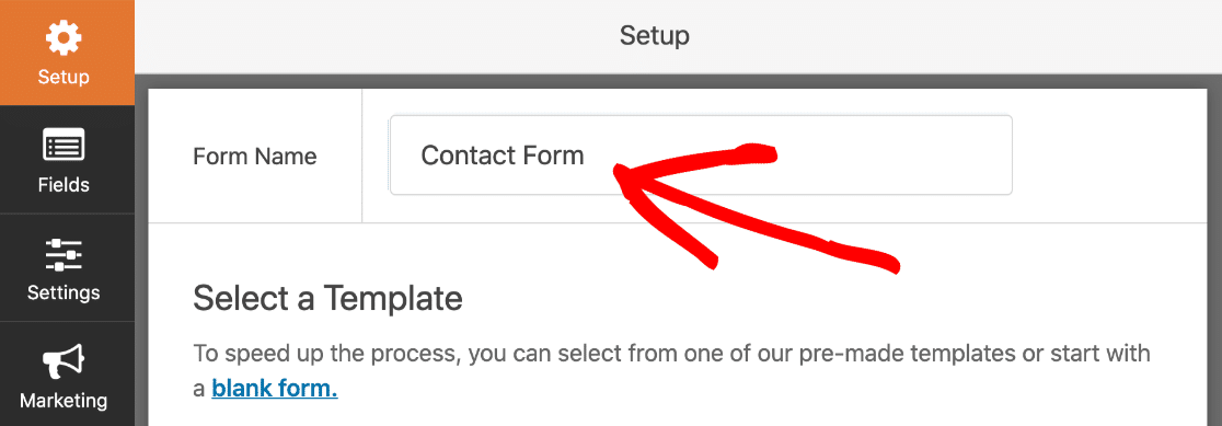 Name your Elementor contact form