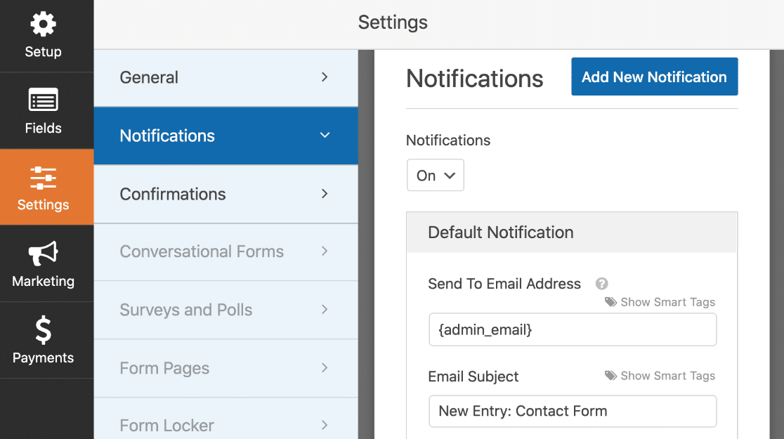 Elementor contact form notifications