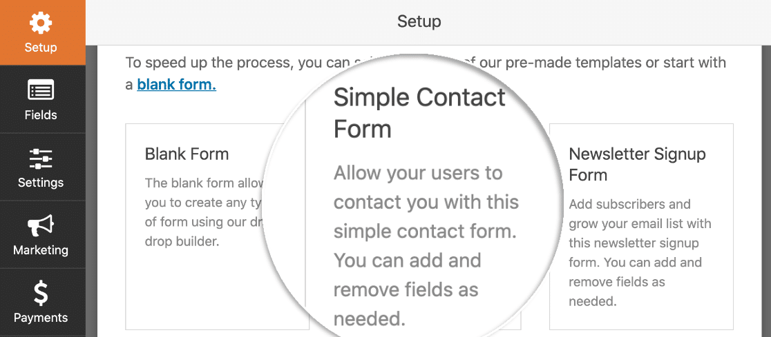 Elementor contact form template