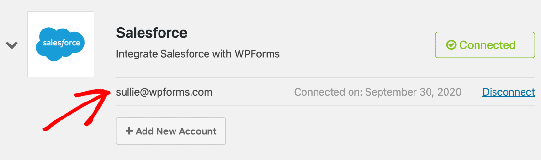 Connected WordPress Salesforce integration
