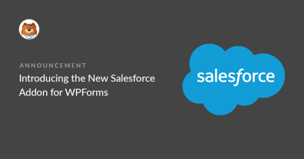 Introducing the Salesforce addon for WPForms