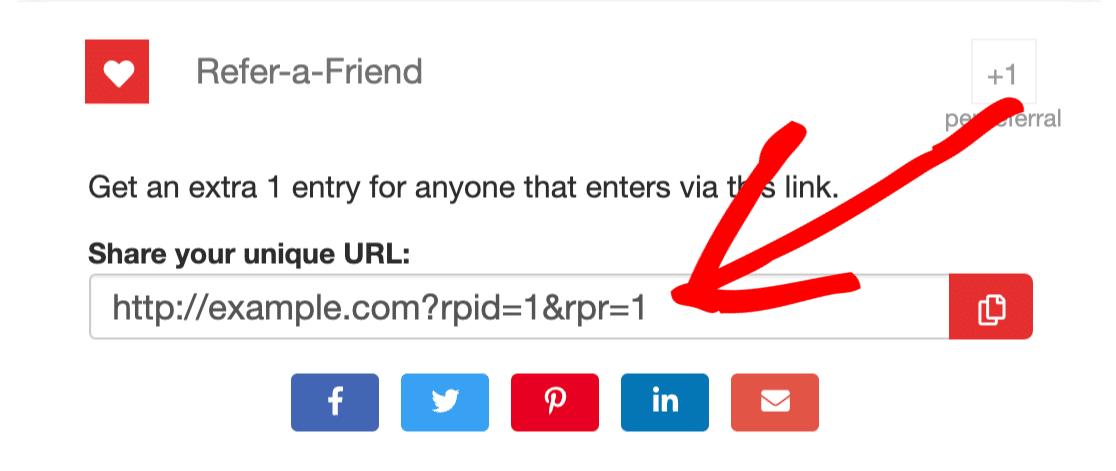 Refer-a-friend link in WordPress